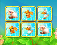 Cute animals pairs game online