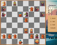 Halloween chess tablet HTML5 játék