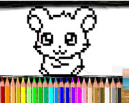 Pixel coloring time tablet HTML5 játék
