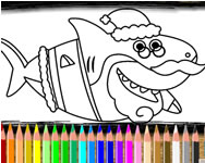 Shark coloring book HTML5