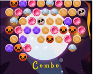 Trick or treat bubble shooter tablet HTML5 játék